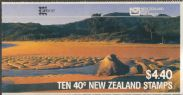 NZ Booklet SGSB44a $4.40 Blue Duck containing SG1289 revised NZ Post logo overprinted Capex